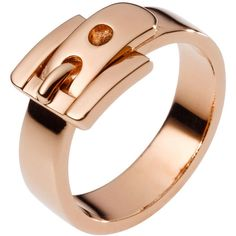 Michael Kors Buckle Ring, Rose Golden ($65) ❤ liked on Polyvore