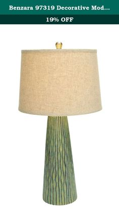 Benzara 97319 Decorative Modern Table Lamp with Vertical Engravings. Add another dimension to your bedroom with this ceramic lamp. It features a stylish lamp stand with vertical engravings. You can add a personal touch to your pace by placing this table lamp by your bedside. This decorative lamp brandishes a beige lamp shade. You can place this table lamp in any corner or on the table to make your bedroom looks lavish. The vividness and subdued charm of this table lamp enhance the cozy…