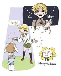 "UT AU- human!Flowey 'Your best ""human"" friend~"