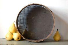 Antique wooden colander Wooden strainer Wooden by TallinnVintage