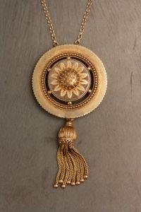 Gold Indian sunflower with tassle - Adelphe London