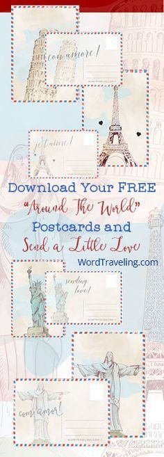 FREE Printable Postcards Send a little love to a friend with our FREE printable postcards from around the world! We love postcards and enjoy collecting them on our travels and hope you will enjoy sending these sweet cards to a friend or loved one. These printable postcards are our exclusive gift to subscribers. Sign up …