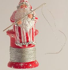 i cannot sew, but he can...  madeira claus from patricia breen