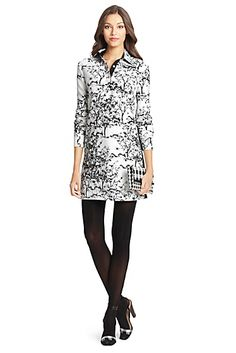 Dvf Dresses Dilly Ceramic Tunic Dress DVF London Embellished Silk