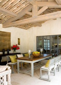 greige: interior design ideas and inspiration for the transitional home by christina fluegge: French Farmhouse dining.