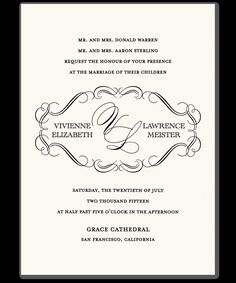 examples of wedding invitations