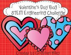 Valentine's Day Bag STEM Engineering Challenge Valentine's Day Science