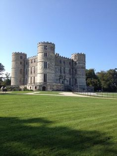 Lulworth Castle in Dorset, England built in 1588 and designed by Inigo Jones. The castle was built as a hunting lodge by Thomas Howard, 3rd Viscount Howard of Bindon, a grandson of the 3rd Duke of Norfolk