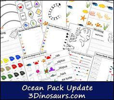 Free Ocean Pack Printable Set (60-Pages!)