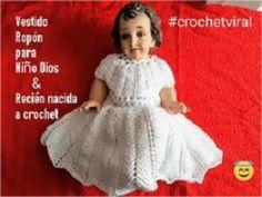 Vestido - Ropon para niño Dios a crochet punto espiga o trigo a crochet - YouTube