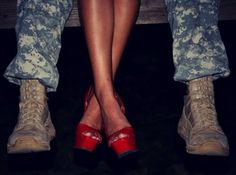 The Military Wife--could be cute with firefighter boots on instead