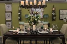 From the #PartyLiteCanada Studio: Framework Chandelier and Centerpeice, Tranquility Hurricane, PartyLite LED pillar candles, GloLite by PartyLite pillar candles