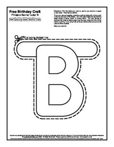 Printable Banners Templates Free   Free Birthday Craft Directions: Printable Banner Letter B - SharePDF ...
