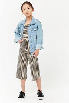 Girls Multi-Striped Tie-Front Jumpsuit (Kids)