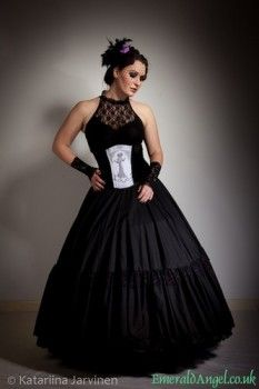 Gothic Victorian Velvet Lace Underbust Corset - 0