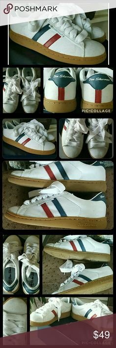 Ben Sherman throwback Canvas Compton kicks Nwb.box is bunged up a bit, need 2 check  (pics taken in advance & idont remember) if has top 2 box  Ben sherman style Compton 2 Canvas sneakers ,Throwback style kicks  These are canvas, is a bit dusty/dirty from being stored for several yrs in my closet as well as not 100 sparkling clean when i bought them   They are a men's sz 5 (UK4) i wear a womens 6/6.5 -7 and these fit me well i just never wore ,only tried on around house   Reasonable offers…
