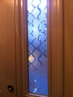 DIY frosted glass windows. Privacy and style!