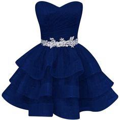 WYcc Women's Ruffle Beads Sequined Homecoming Dresses Short Organza... ($58) ❤ liked on Polyvore featuring dresses, sweetheart neckline prom dresses, short prom dresses, blue formal dresses, sequin formal dress and prom dresses