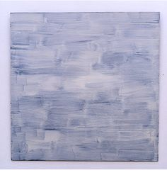 The American abstract painter Robert Ryman is famous for his minimalist white canvases
