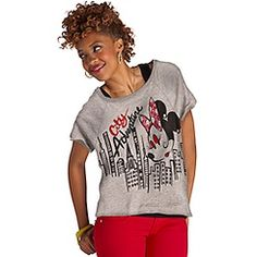 ''City Adventure'' Minnie Mouse Tee for Women