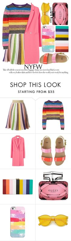 """PACK FOR NYFW"" by noraaaaaaaaa ❤ liked on Polyvore featuring Missoni, Miu Miu, Harris Wharf London, Fendi, Milly, Gucci and Casetify"