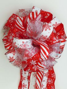 Christmas Bow Tree Bow Topper Bow Sparkle By Greentraderllc,