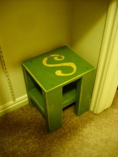 Personalized stool from Crate
