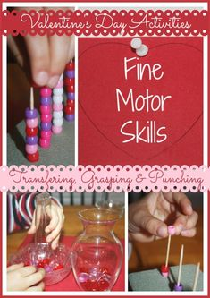 Valentine Fine Motor Skills Activities (from Little Bins for Little Hands)