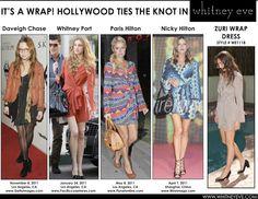 Hollywood wraps it up in the Whitney Eve Zuri Wrap Dress