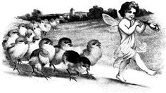 fairy pied piper baby birds png clip art Digital Image Download graphics printables