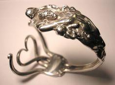 Reed Barton Love Disarmed Sterling Silver Spoon Ring Fork Bracelet Art Nouveau | eBay
