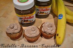 Atemlos: REZEPT - #Nutella-Bananen-Cupcakes auf http://www.atemlosblog.de/2013/03/47-nutella-bananen-cupcakes.html