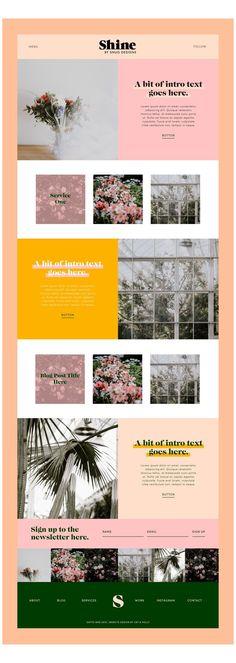 Website Design Inspiration, Best Website Design, Site Web Design, Website Design Layout, Blog Layout, Wordpress Website Design, Wordpress Theme Design, Web Layout, Wordpress Free
