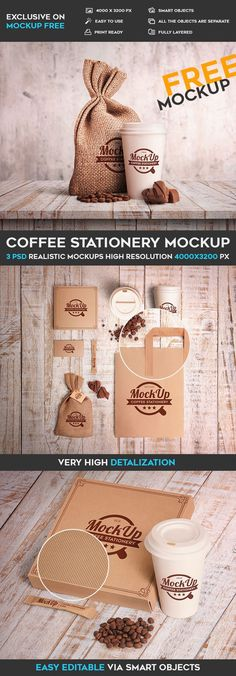 The coffee office mockups are embedded with high resolution PSD files useful for business attraction and commercialization. The designs may vary based on high-quality photos of stationery, dishes, and packaging.This free mockup can be useful for coffee business owners for creating advertisement and developing interesting ideas. You are free to download this PSD MockUp template and modify it the way you wish. Make a successful choice.