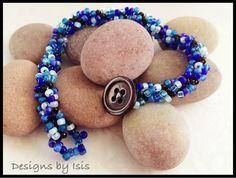 Handmade Beadwork bracelet by DesignsbyIsisUK on Etsy, £10.00