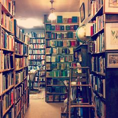 Lost in a sea of old books, via @Caitlin Burton Flemming