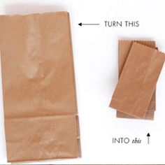 Turn a large paper bag into a mini paper bag with this easy tutorial.