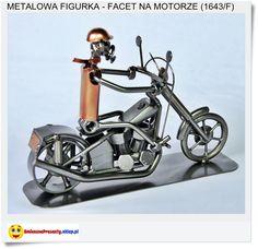 Chłopak na harleyu Metalowa statuetka made in Poland