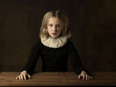 Marie Cecile Thijs - Girl with White Collar at Table - high res - Courtesy Galerie Eduard Planting