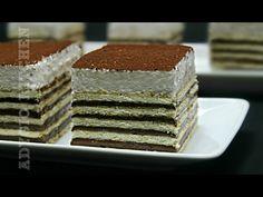 Prajitura fara coacere cu ciocolata si frisca | Adygio Kitchen - YouTube Romanian Food, Diy Food, Vanilla Cake, Tiramisu, Biscuit, Food And Drink, Caramel, Cooking Recipes, Sweets