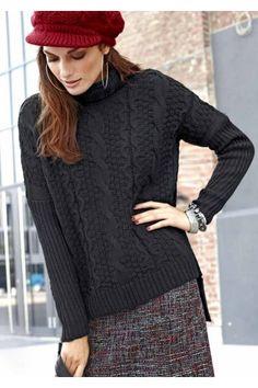 Značkové svetry levně, dámský černý svetr TAMARIS Turtle Neck, Pullover, Sweaters, Fashion, Moda, Fashion Styles, Sweater, Fashion Illustrations, Sweatshirts