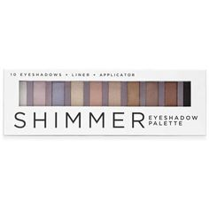 Forever21 Shimmer Eyeshadow Palette (€5,30) ❤ liked on Polyvore featuring beauty products, makeup, eye makeup, eyeshadow, beauty, forever 21, eye pencil makeup, palette eyeshadow and pencil eyeliner