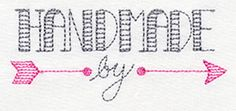 """Made with Love - Handmade By design (UT7171) from UrbanThreads.com 3.86""""w x 1.65""""h 1 December 2013"""