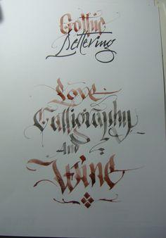 Calligraphy Types III