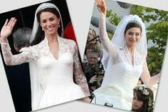 I see some similarities, but you can hardly call Kate's dress a copy of Actress Isabella Orsini, goddaughter of Italian prime minister Silvio Berlusconi dress from when she married Belgian Prince Edouard de Ligne in 2009 Kate Middleton Wedding Dress, Kate Dress, English Royalty, Vogue, Actresses, Elegant, Wedding Dresses, Beauty, Prime Minister