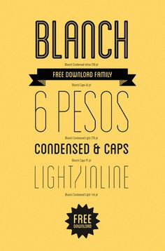 This is a modular typeface family halfway between a 50s style sans serif and the range of numerical characters which most labelling machines use. These are seemingly contrasting concepts which lend themselves to the creation of an atypical font. The Blanch typeface family is comprised of 6 different font weights; 3 condensed weights and 3 caps weights. They are: Blanch condensed, Blanch condensed inline, Blanch condensed light, Blanch caps, Blanch caps inline, and Blanch caps light.  For…