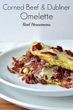 Corned Beef and Dubliner Omelette. This corned beef and dubliner cheese omelette is the perfect breakfast to help celebrate St. Breakfast Dishes, Breakfast Time, Breakfast Omelette, Breakfast Recipes, Atkins Breakfast, Healthy Omelette, Omelette Recipe, Cheese Omelette, Corned Beef Recipes