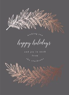Add sparkle this holiday season with Minted's Foil Pressed Christmas cards. Exclusively available at Minted, choose from gold, silver, rose gold, glittery gold, and glittery silver foil. Winter pine holiday card. Christmas Card Ideas. Holiday Card Ideas.