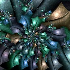 """This one was created by Dan Kuzmenka. The name of this one is """"Mateko."""" In addition to many other accomplishments by Dan, this fractal was on exhibition at the Congreso Internacional de Matematicos, Madrid, 2006."""