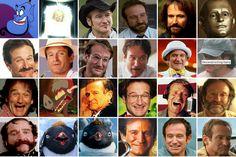 Robin Williams Faces collage